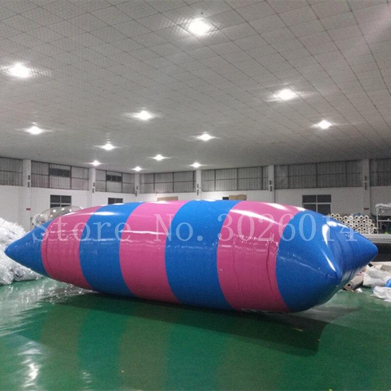 Libre bomba! Entrega puerta a 7x3m emocionante Catapulta de agua inflable gotas saltar buceo Torre inflable almohada