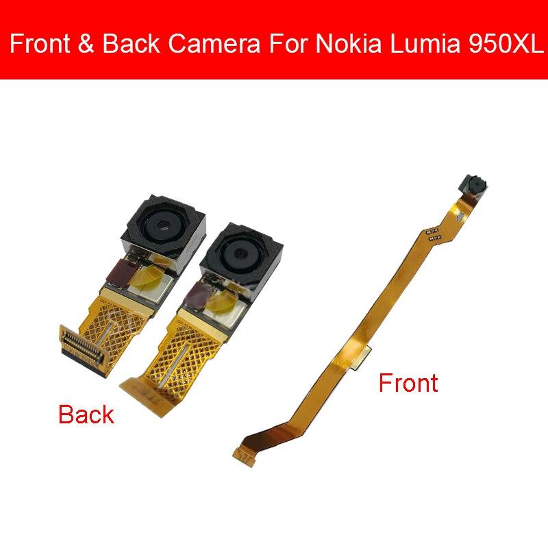 Módulo de cámara trasera para Nokia Lumia 950 XL 950XL cámara frontal trasera Cable de cinta flexible reparación bueno y probado
