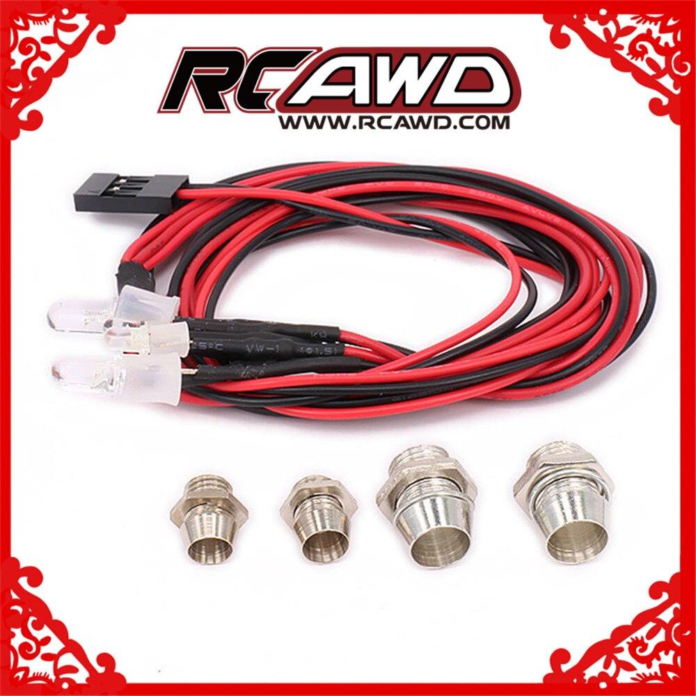 Cuerpo de 2/4 LED, montura de techo para luz, conjunto de faro para 1/10 1/16 1/18 RC, Hobby, modelo de coche, monstruo, camión, Crawler HSP Wltoys