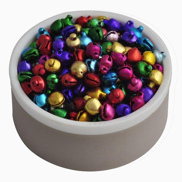 Verkauf 6MM 200 stücke/lot Mix Farben Lose Perlen Kleine Jingle Bells Weihnachten Dekoration Geschenk Großhandel