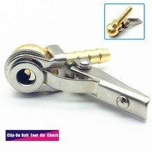 Зажим для шланга 8x28 мм, патрон с клипсой и шаровой ножкой, открытый (проточный), латунный стержень, манометр для накачки шин/шин, инструменты для ремонта шин