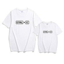 T-shirt famille pour garçons et enfants   Vêtements assortis avec CTRL C + CTRL V à motif de famille, tenue de famille