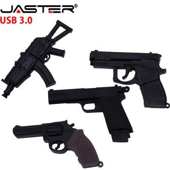 JASTER 3.0 submachine gun usb flash drive pendrive 4G 8G 16G 32G 64GB handgun ak47 thumb drive usb 3.0 cartoon pistol pendrives