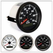 Compteur de vitesse GPS marin 85mm   Odomètre 0-70 nœuds 0-80 phe pour bateaux, Yacht bateaux avec kilométrage de voyage, COG SOG lueur