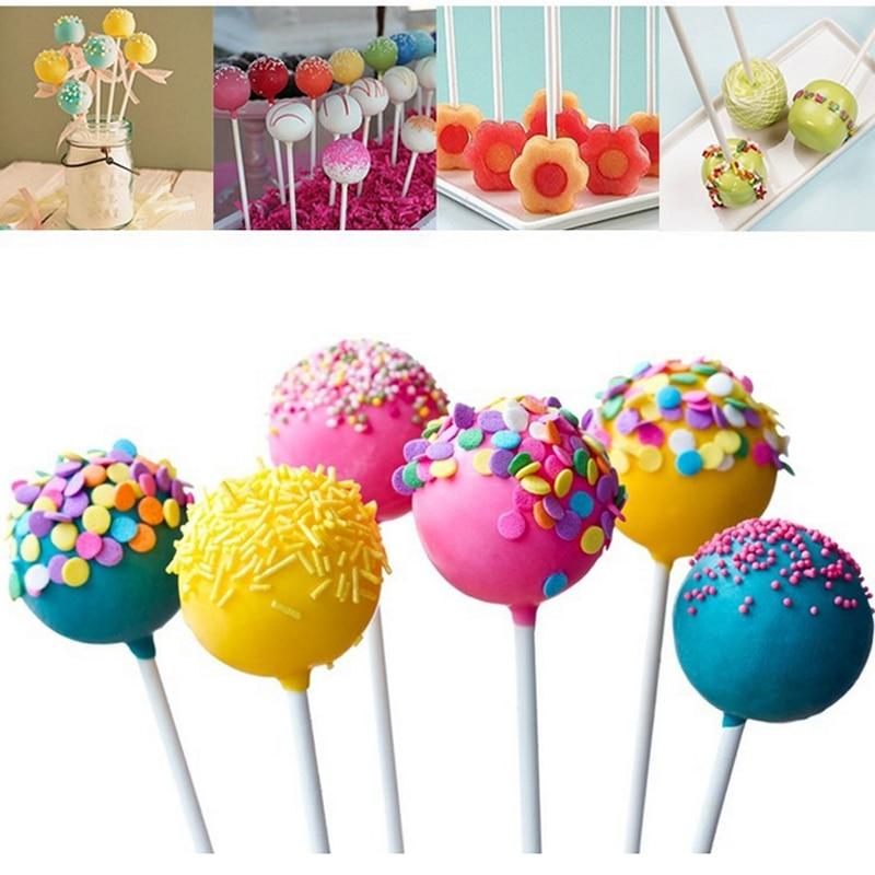 100/200pcs 10cm Lollipop Stick Food-Grade Plastic Pop Sucker Sticks Cake Pop Sticks For Lollypop Candy Chocolate Sugar Pole