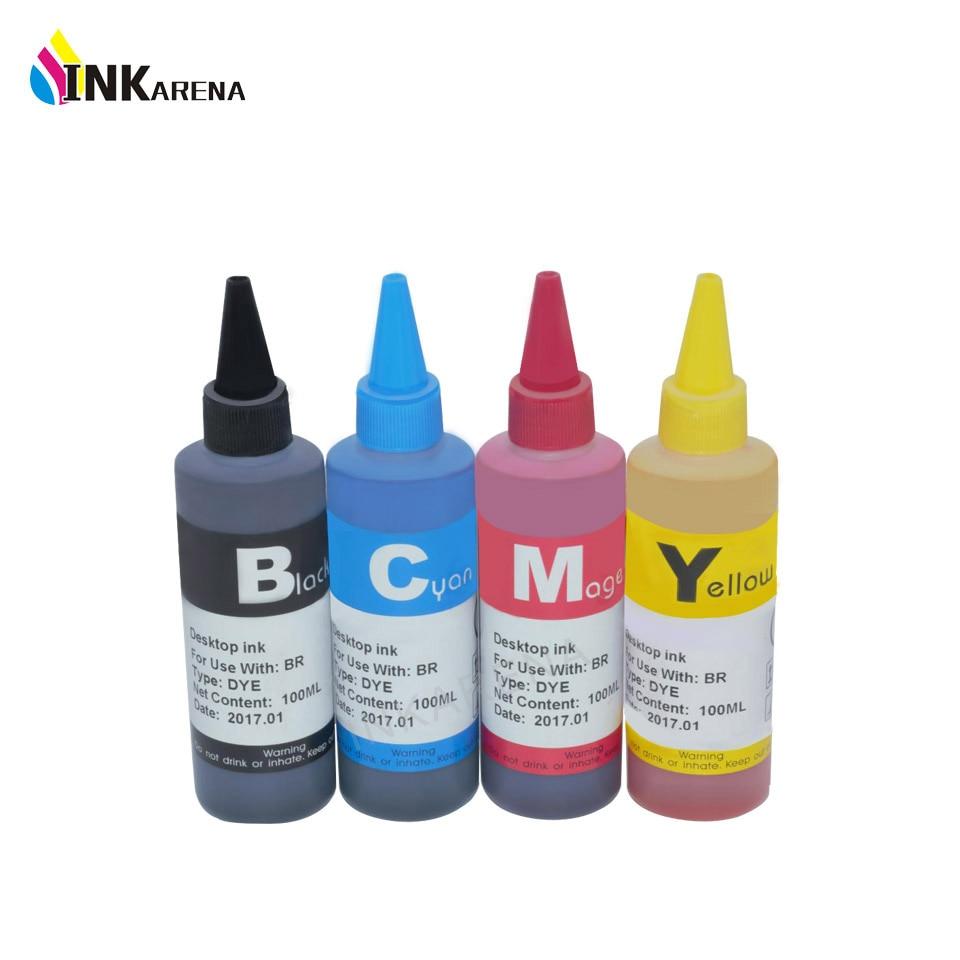 INKARENA 4 botella de Color de tinta Universal LC10 LC51 LC960 para tinta Kit de recarga DCP-135C 130C MFC-235C MFC-240C impresora de inyección de tinta