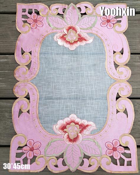 Mantel Individual bordado para mesa de encaje picante mantel paño de café taza de Navidad té posavasos mantel plato de bebida tapete comedor taza Cocina