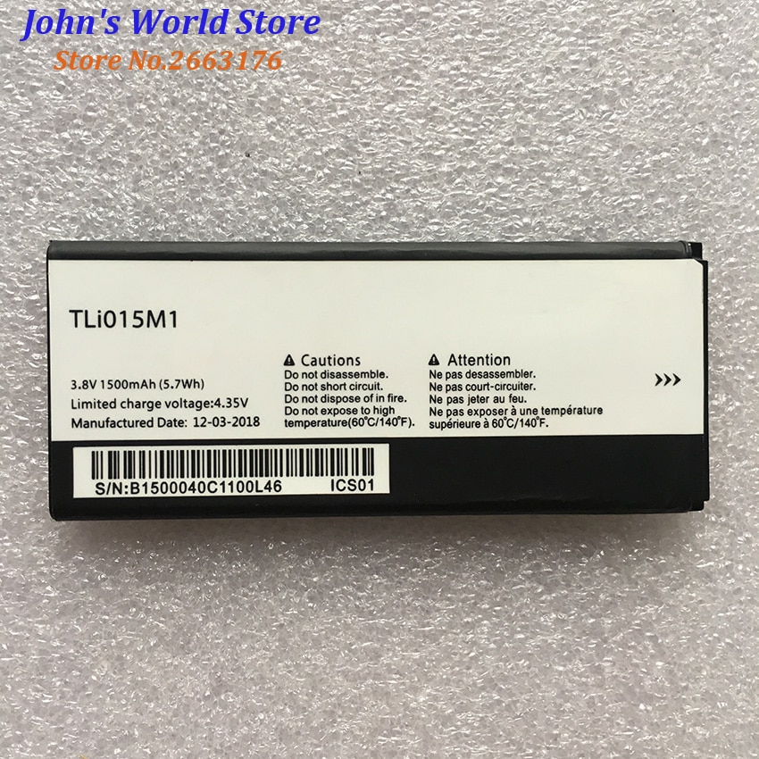חדש 1500mAh TLi015M1 Tli015M7 סוללה עבור Alcatel One Touch Pixi 4 4034A PIXI 4 4034A 4034X 4034F 4034D טלפון