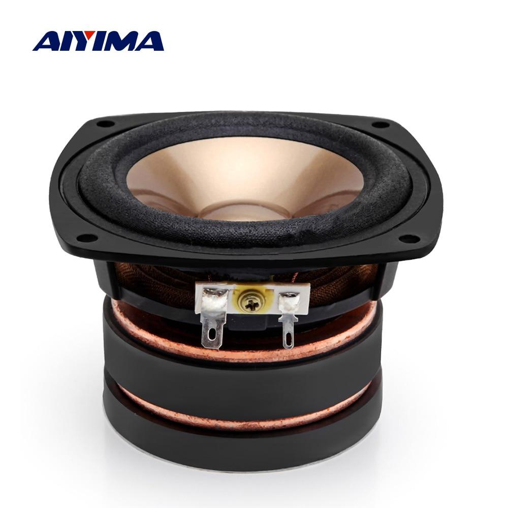 AIYIMA 1 قطعة 4 بوصة الصوت المتكلم سائق 4 أوم 100W المتحدثين مجموعة كاملة الصوت العمود مكبر الصوت DIY المسرح المنزلي