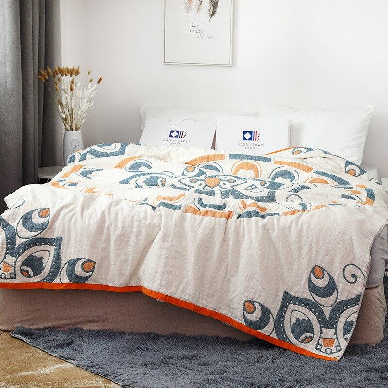 Junwell-بطانية شيفون صيفية 100% قطن ، أريكة سرير ، قابلة للتنفس ، أنيقة ، على الطراز الهندي ، للاستخدام في النزهة والسفر