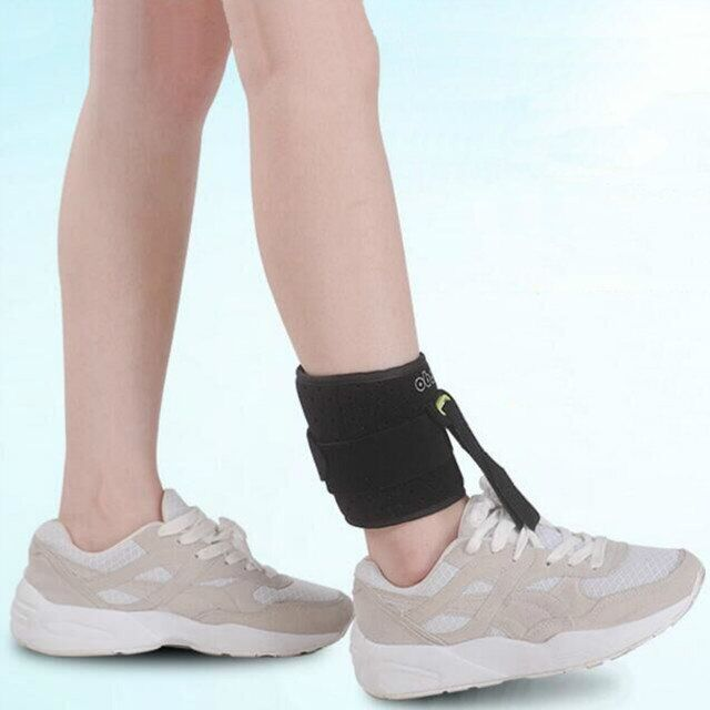 1Pc Adjustable Foot Orthotics Ankle Joint Support Brace Strap Use With Shoe Foot Poliomyelitis Hemiplegia Stroke For Health Care