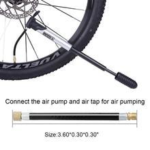 1 pièces vtt vélo pneu gaz Valve adaptateur gonfleur pompe à Air rallonge tuyau Tube connecter la pompe à air et le robinet dair pour le pompage de lair