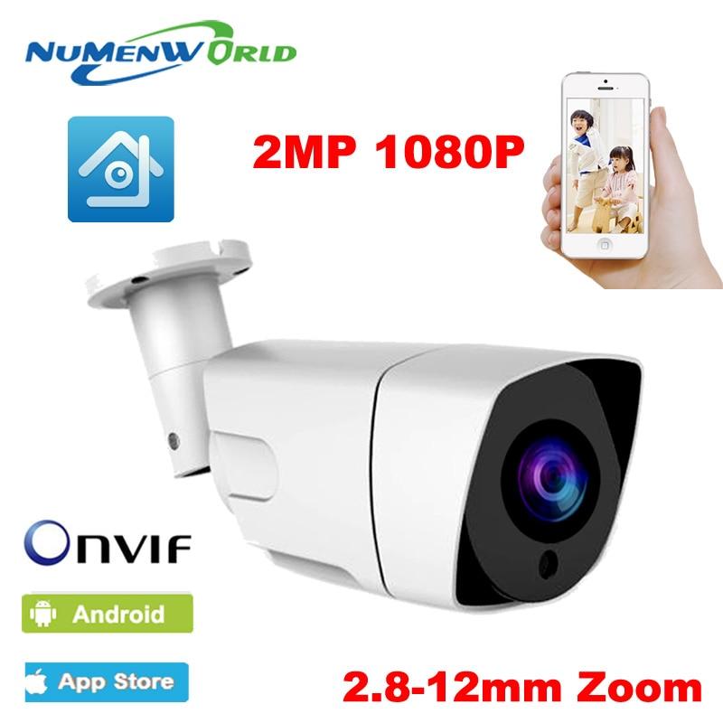 La Digital HD WDR 3X Auto Zoom 2,8mm-12mm lente motorizado cámara IP 1080P IR bala cámara de seguridad exterior IP 42 Uds LED vmeyesuper de