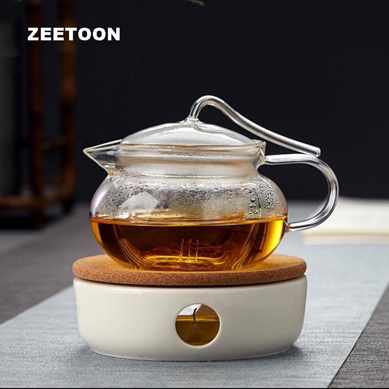 Brief Warm Tea Stove Candle Heating Coffee Milk Warmer Candlestick Teaware Accessories / Teapot Holder Base Shelf Ceramic Heater