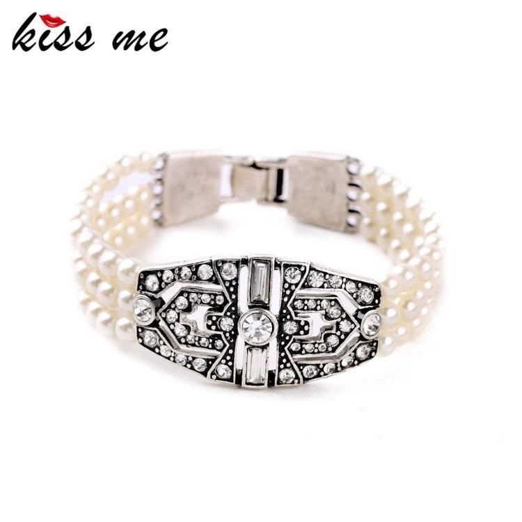 Compras en línea, India, cadena de cuentas multicapa, superventas, pulseras de perlas simuladas femeninas, fábrica al por mayor