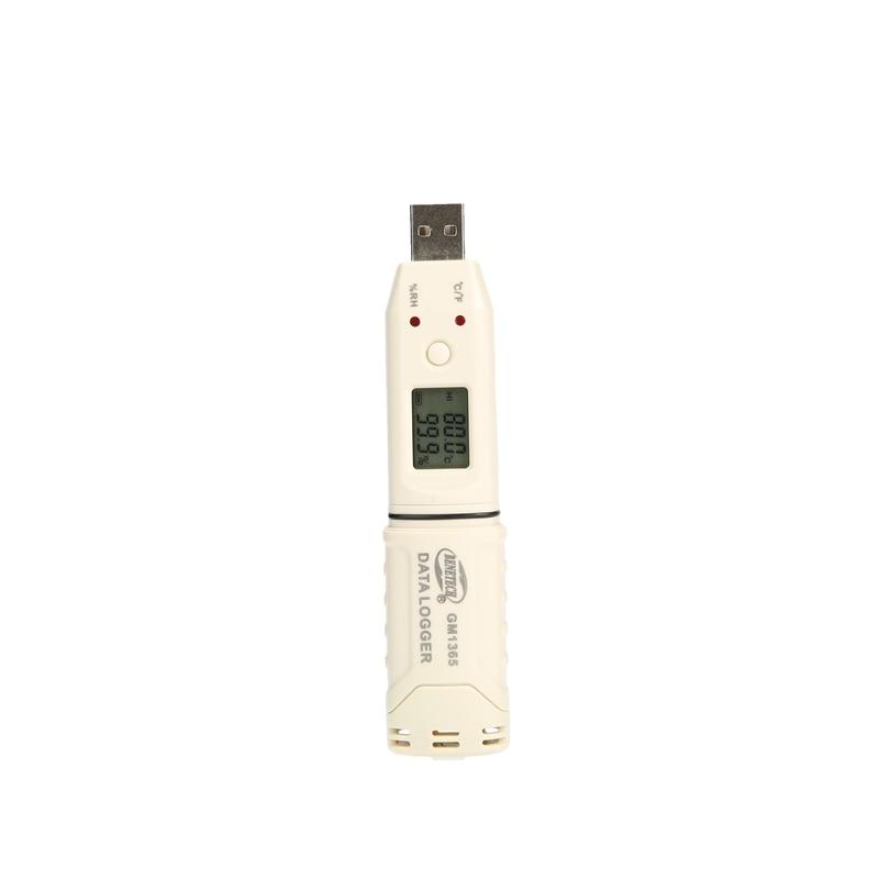 مسجل درجة الحرارة والرطوبة الرقمي الصغير USB ، مسجل بيانات درجة الحرارة والرطوبة مع علامة تجارية ، LCD ، 30 ~ 80 درجة مئوية