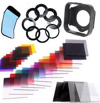 Filtro graduado ND2 4 8 16 40 en 1 + 52mm 58mm 77mm anillo adaptador para Cokin envío gratis