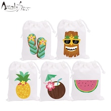 Happy Hour Hawaii Theme Party Favor Bags Candy Bags Holiday Happy Vacation Party Gift Bags Kids Birt