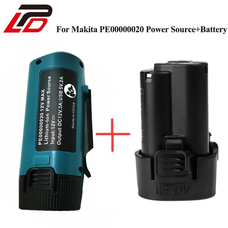 10.8 V 1500 mAh bateria do narzędzi Makita BL1013 litowo-jonowy akumulator LCT204 DF330D TD090D z źródła zasilania USB