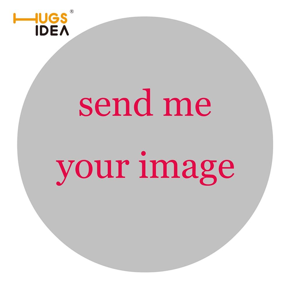HUGSIDEA مخصص شعارك صورة ورأى + المطاط جولة السجاد 60*60 سنتيمتر المنزل غرفة نوم البساط