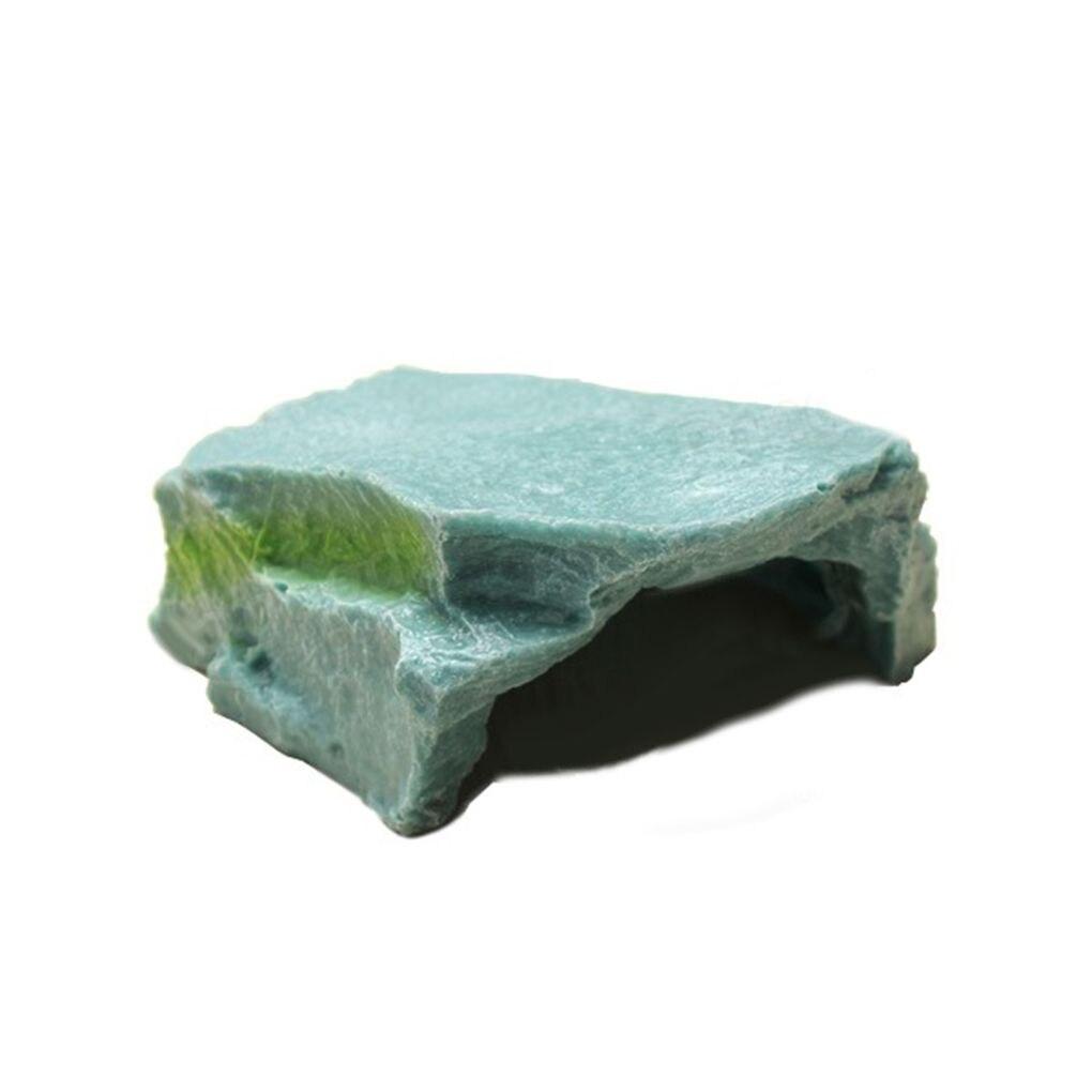Cueva de resina con orificio para terraza, para acuario, pecera, Tortuga, Tortuga, adorno decorativo, Original, ecológica, Imitación de roca, Tortuga, tortuga