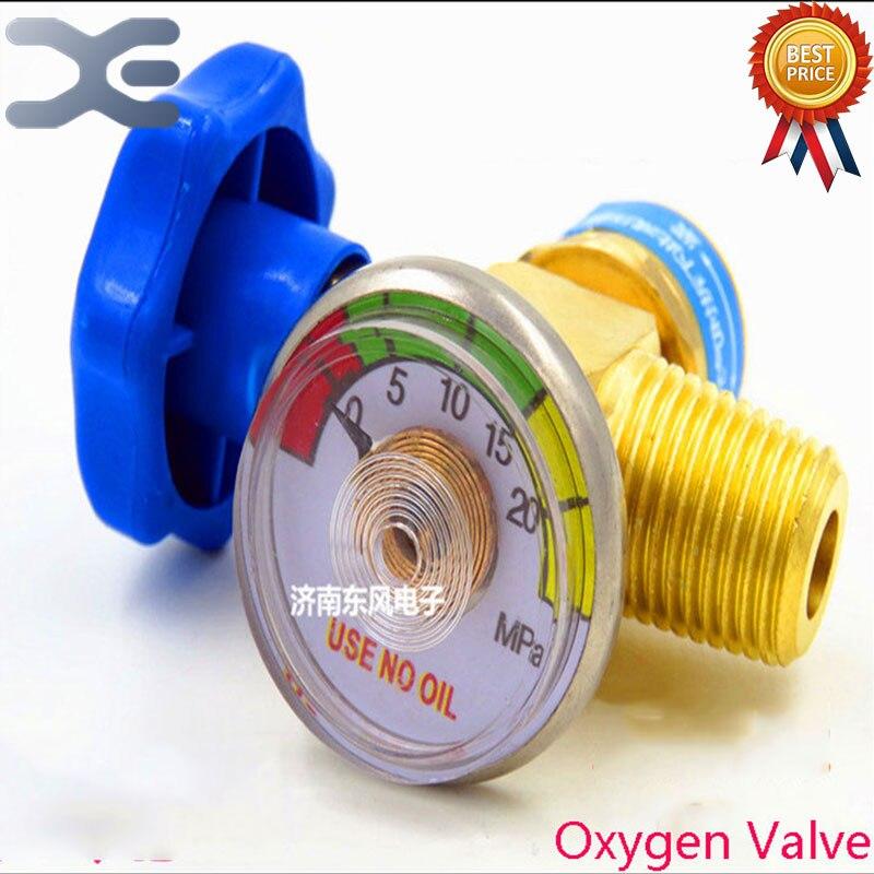 1 Uds., válvula de descompresión de oxígeno en miniatura portátil, piezas de refrigerador, herramientas de reparación