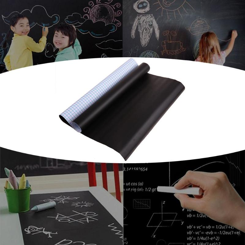 1 Pza. PVC impermeable pizarra pegatina movible niños Escritura de grafiti tablero aprendizaje Oficina aviso escuela Oficina suministros