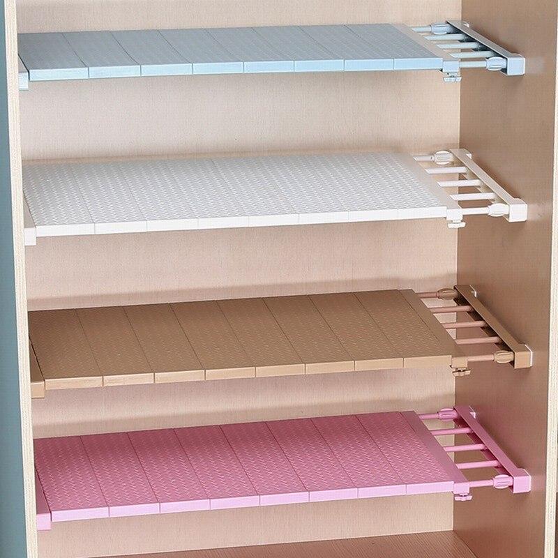 Junejour armario ajustable organizador almacenamiento estante de pared montado estante de cocina ahorro de espacio armario decoración estantes accesorios para el hogar