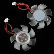 PC Computer Cooling Fan 12V 2 Pin 7 Blades PC VGA Graphics Video Card Heatsink Cooler Cooling Fan 45mm