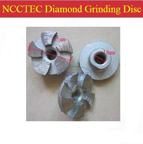 1.4 NCCTEC diamante grinding wheel CUP FRETE grátis   35mm pequeno disco de moagem A SECO de Concreto para angle grinder   M10 fio