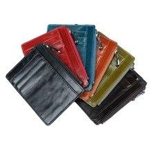 THINKTHENDO New Slim Wallet RFID Blocking Credit Card Holder Coin Bag Money Purse Pocket Gifts Fashion Women Men Leather Bags