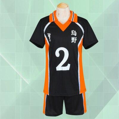 ¡Ainclu envío gratis Haikyu! Shoyo Hinata Karasuno, uniforme de equipo de voleibol escolar, disfraz de Cosplay de Anime Number2