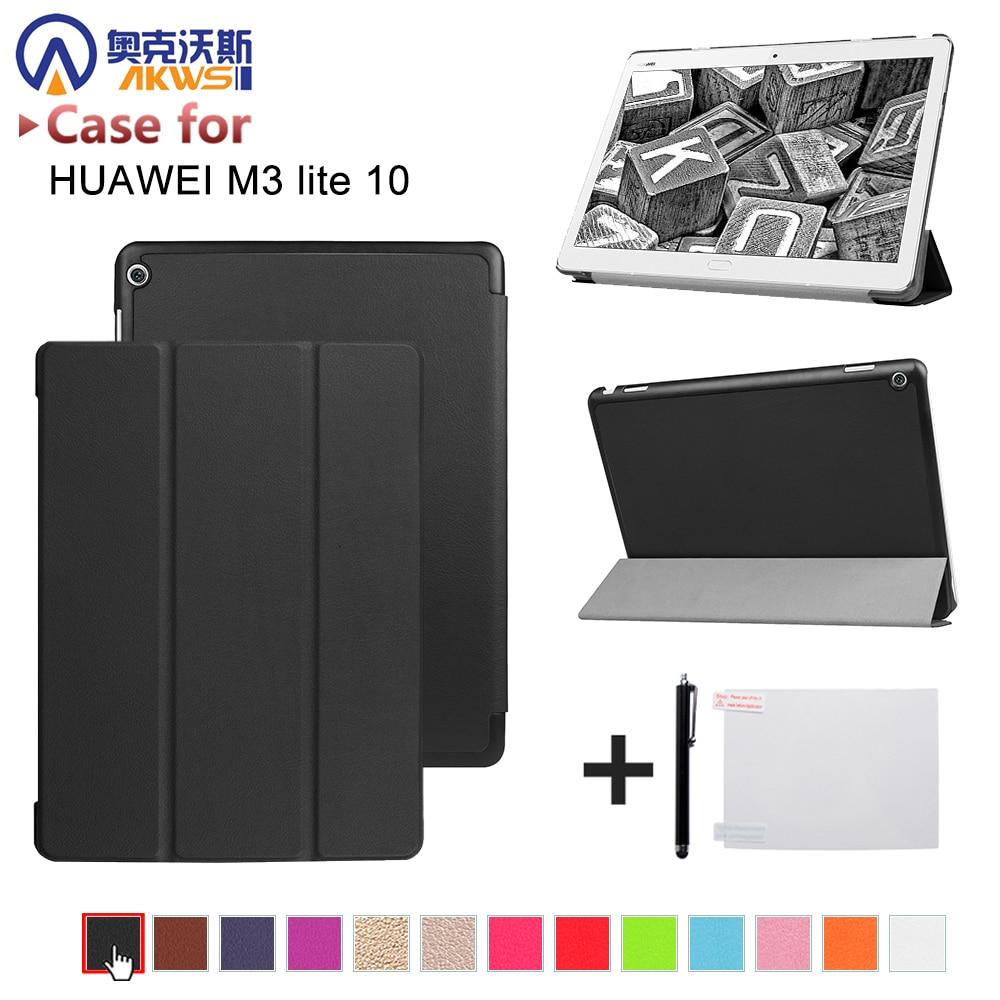 Case for Huawei MediaPad M3 Lite 10, BAH-W09 BAH-AL00, Funda Tablet mediapad 10.1,Slim Leather Cover