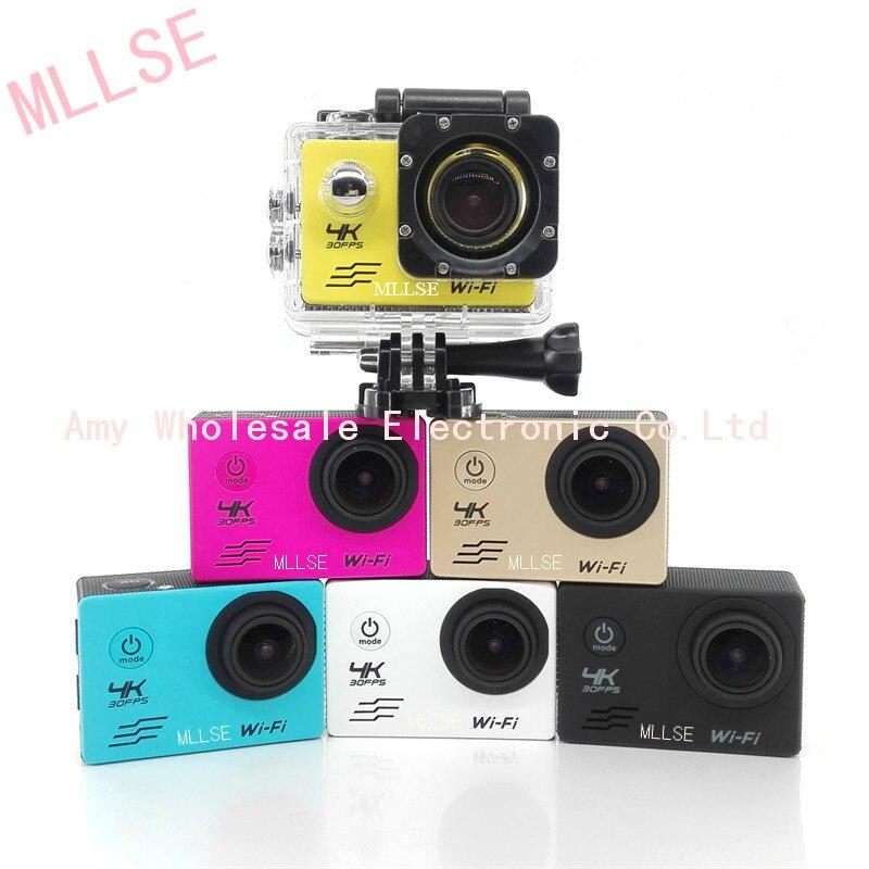 كاميرا حركة رياضية مقاومة للماء مع واي فاي ، فائقة الدقة ، 4K ، واي فاي ، 100% بكسل/60 إطارًا في الثانية ، شاشة LCD 1080 ، كاميرا 170D ، 2.0