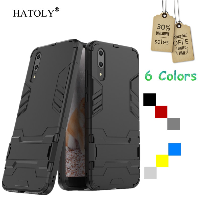 For Cover Huawei P20 Case Rubber Robot Armor Phone Shell Hard PC Back Phone Cover for Huawei P20 Pro