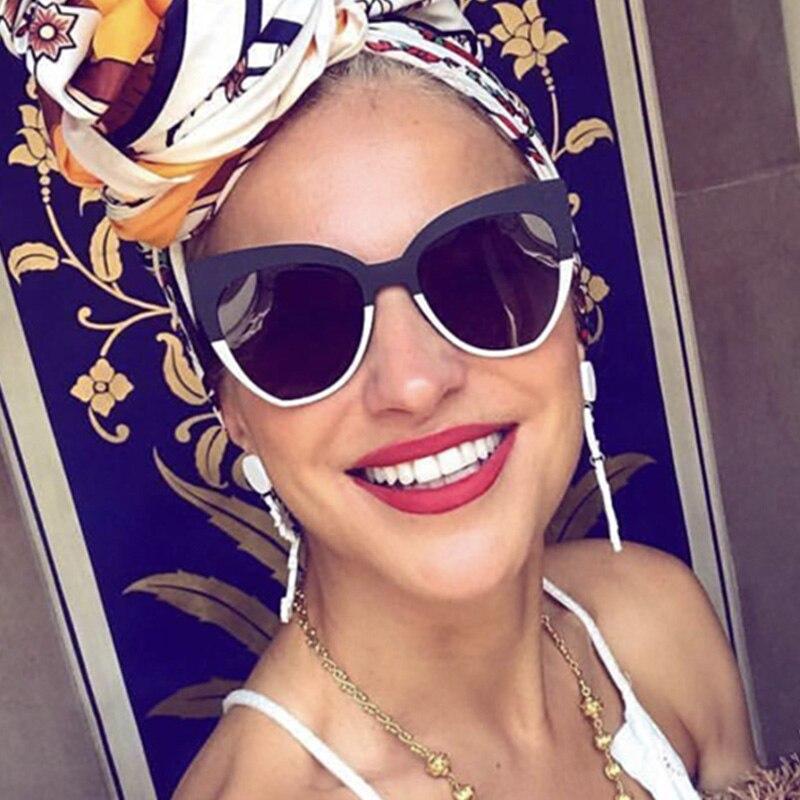 Женские солнцезащитные очки кошачий глаз, Винтажные Солнцезащитные очки с тонированными линзами, брендовые дизайнерские очки, 2019