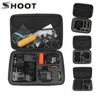 shoot portable eva collection case camera box for gopro hero 9 8 7 black yi 4k sjcam sj8 pro m20 dji insta360 camera accessory