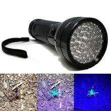 Aluminium 395nM LED UV Flashlight Torch Ultra Violet Blacklight Detection Purple Light Lamp for Checking Note Credit Card