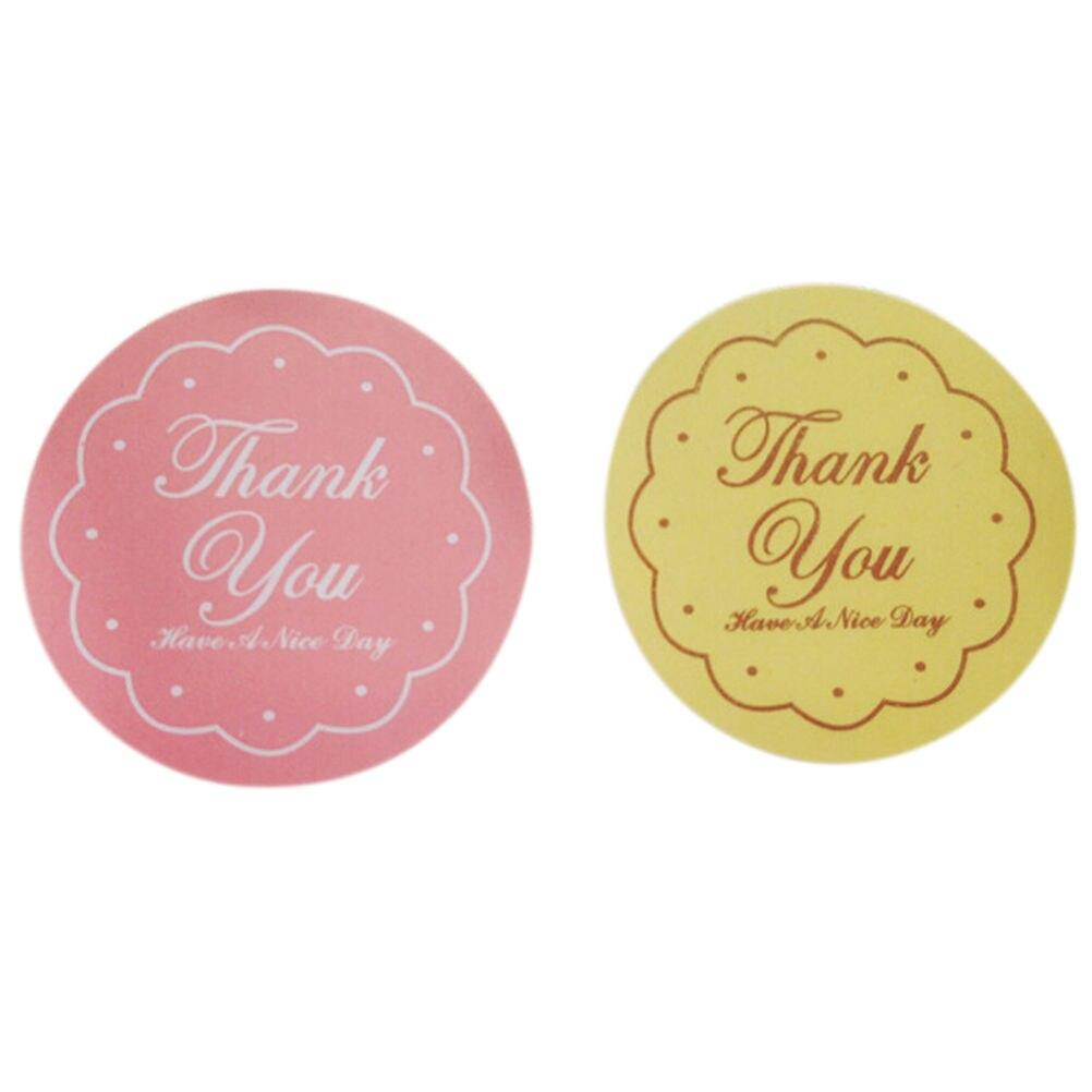 48 шт/листов цветочный спасибо стикеры на клейкой основе с овальной упаковке