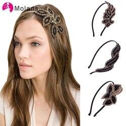 2020 moda coreano mulheres hairbands simples diamante inserção hairband cristal trançado floral cabelo hoop acessórios para o cabelo