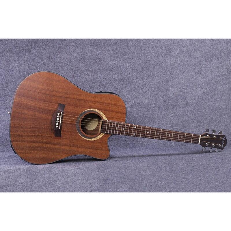 Guitarra de sapeli acústica de 40 pulgadas, material con pastilla, instrumentos musicales
