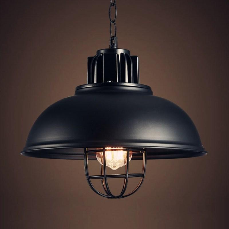 Retro Pendant Lights Industrial Cage Kerosene Lamp LED E27 4w Loft Light American Style Metal Lampshade Fixtures Kitchen Lamp