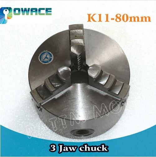 [EU Ship] 3 mandíbula K11-80mm/4 mandíbula K12-100mm mandril Manual autocentrador CNC máquina herramienta torno Chuck