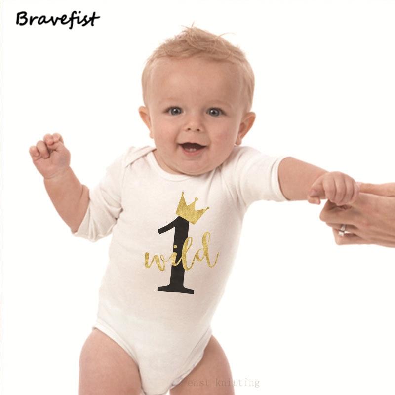 Детские летние комбинезоны с цифрами, детские комбинезоны с короткими рукавами для дня рождения, белые детские комбинезоны с короткими рук...