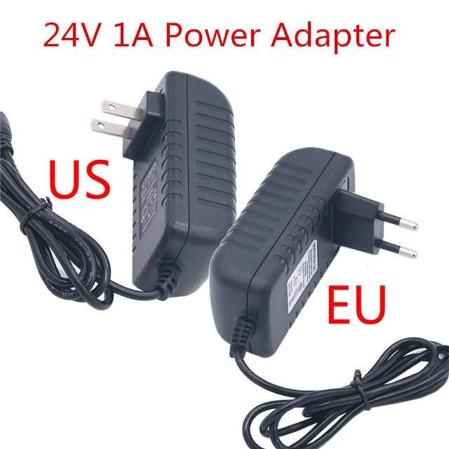 Adaptador de corriente DC 24 V 1A, fuente de alimentación ajustable de...