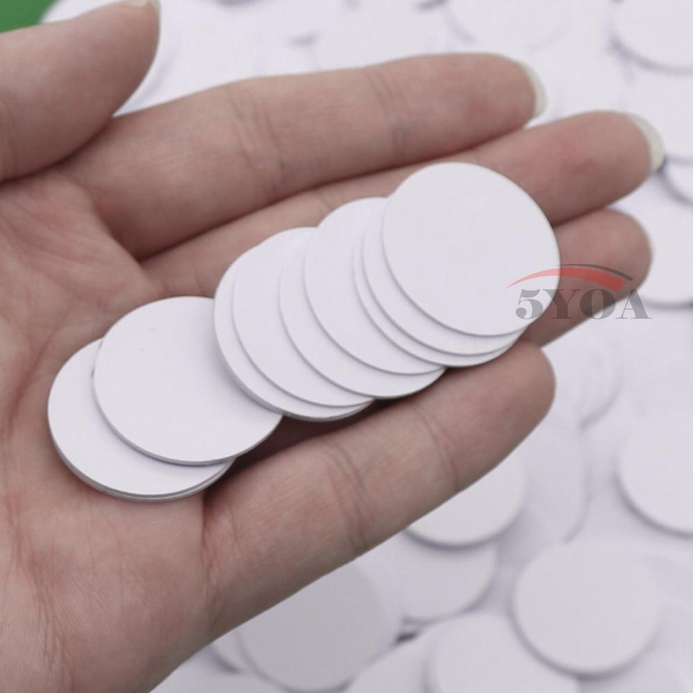 10 pçs/lote NFC215 TAG NFC Etiqueta RFID Tag Token Tag Chaves llaveros llavero Patrulha Universal Mini Telefone NFC Tag