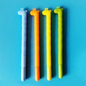 24 Pcs South Korean Creative Cute Fawn Black Pen Gift  Giraffe Neutral Pen Kawaii School Supplies  Stationery