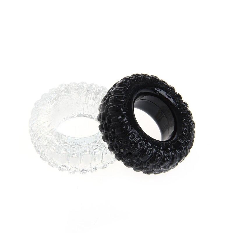 Anillos de pene 2 uds. Eyaculación retardada de silicona llanta de pene anillos pene adulto juguetes sexuales para hombre