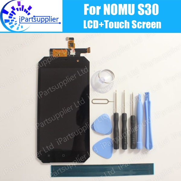 Pantalla LCD Nomu S30 + pantalla táctil 100% reemplazo del panel de vidrio digitalizador LCD Original para Nomu S30 + herramienta + adhesivo
