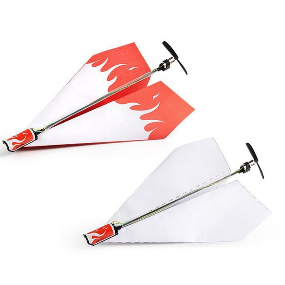 Airplane Rc Folding Paper Model DIY Motor Power Red Rc Plane Power Kids Boy Toy Diecast Airplane Model Toy Air Plane Aircraft 5010 320kv brushless dc motor model micro multi rotor motor model aircraft aircraft motor model diy